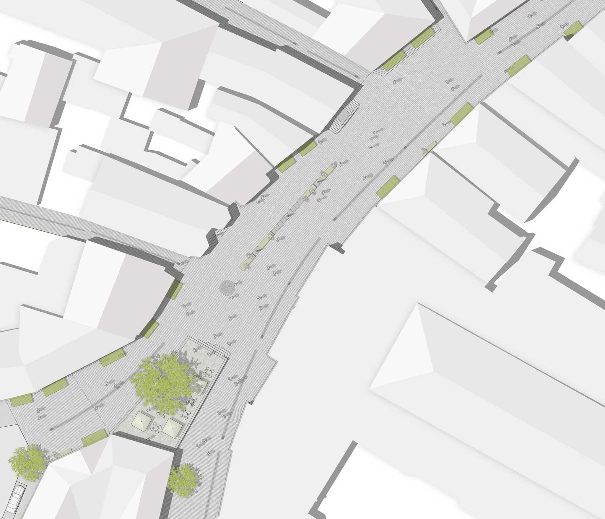 Landschaftsarchitektur Minden Fußgängerzone - Detail