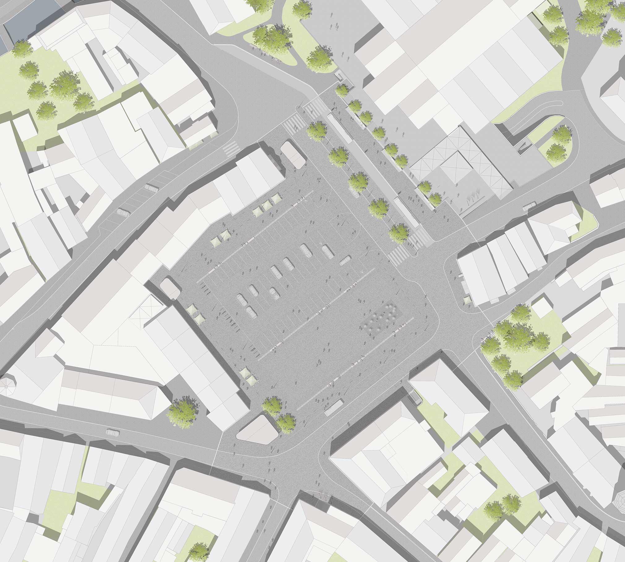 Landschaftsarchitektur Gestaltung Zentralparkplatz Kulmbach - Detail