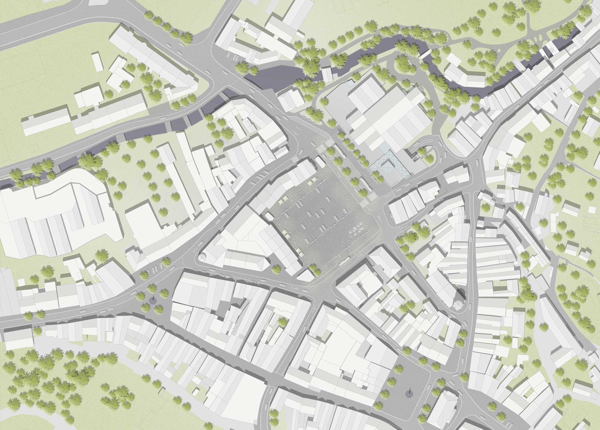 Landschaftsarchitektur Gestaltung Zentralparkplatz Kulmbach