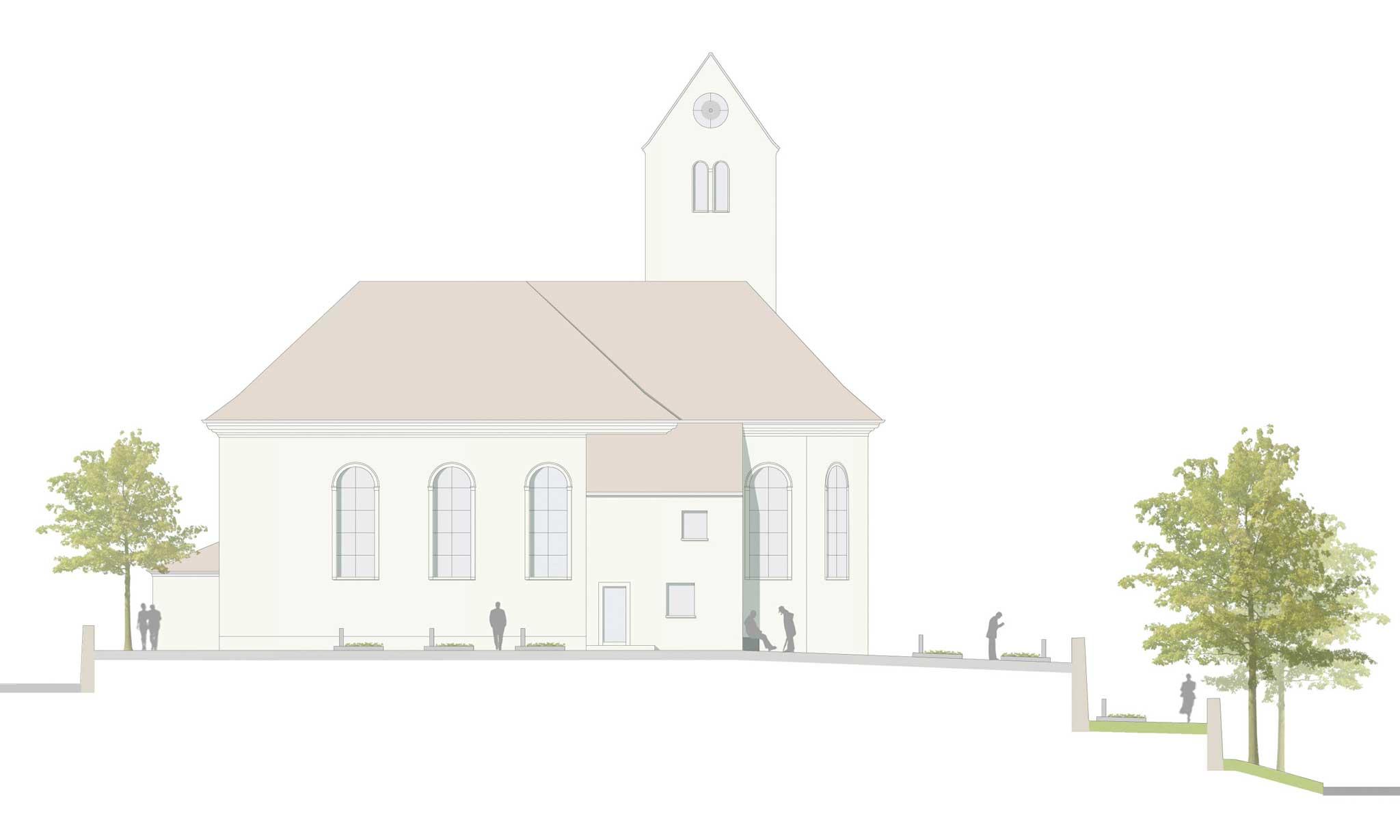 Erweiterung Alter Friedhof Epfach - Umfeld Kirche