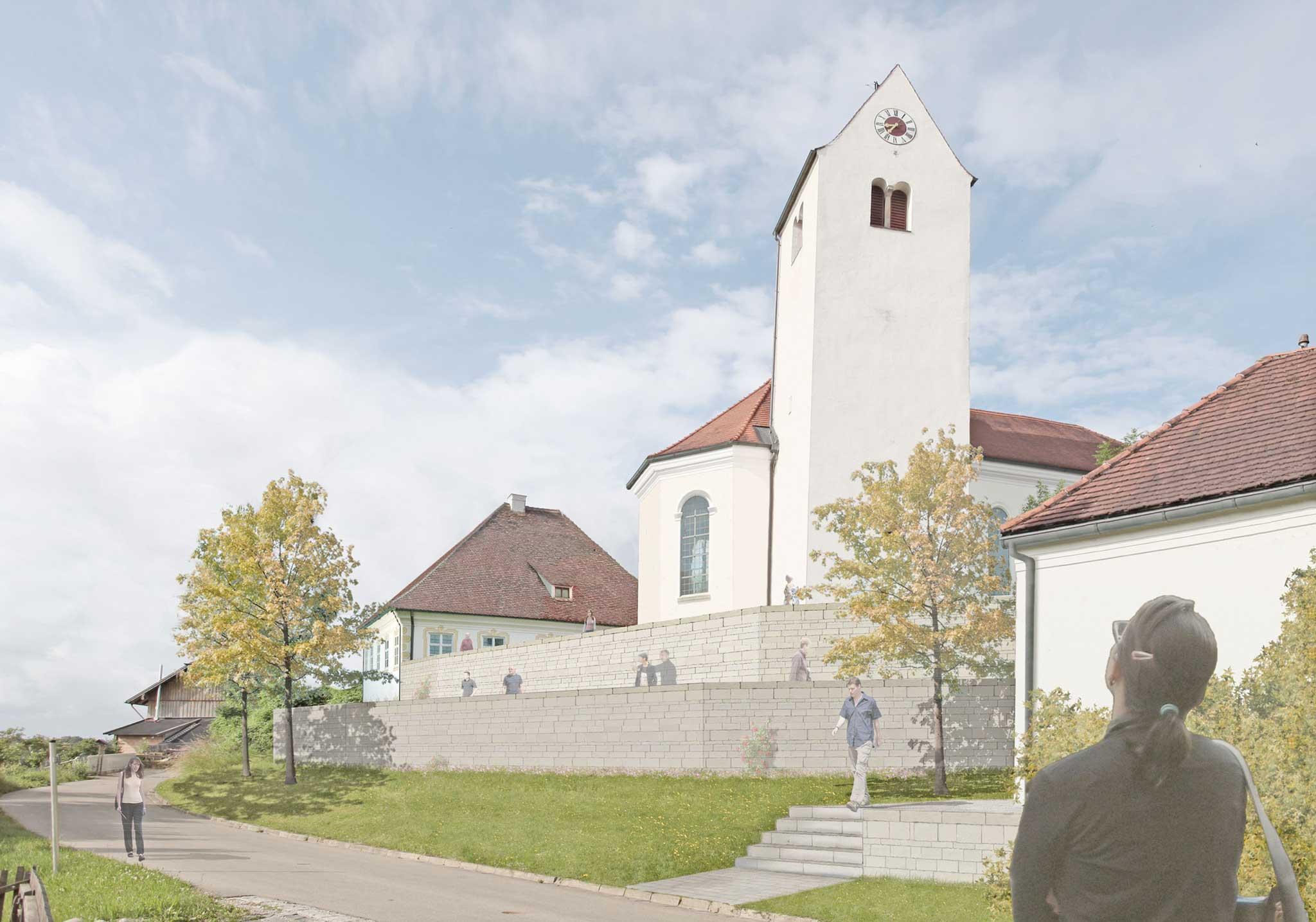 Erweiterung Alter Friedhof Epfach - Perspektive