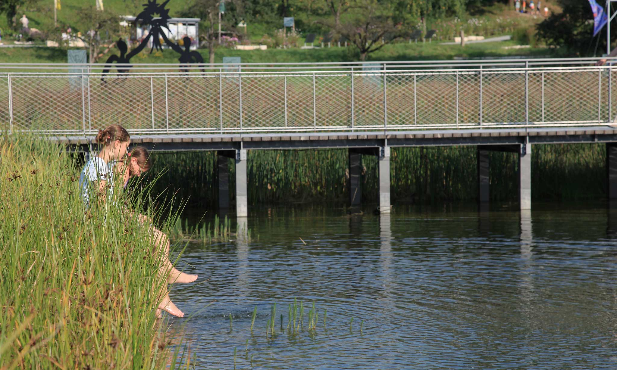 Grüne Mitte | Rechberghausen | Blick aufs Wasser