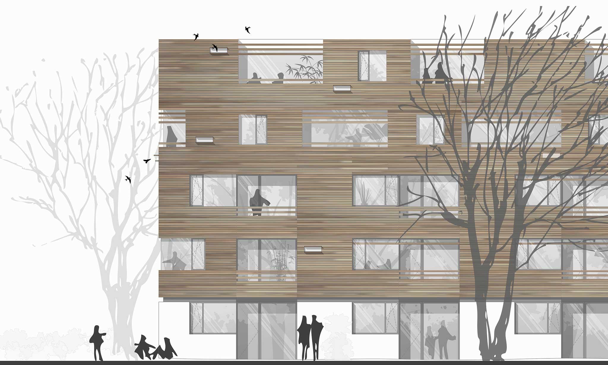 Housing Area Erlangen Landschaftsarchitektur - Ansicht