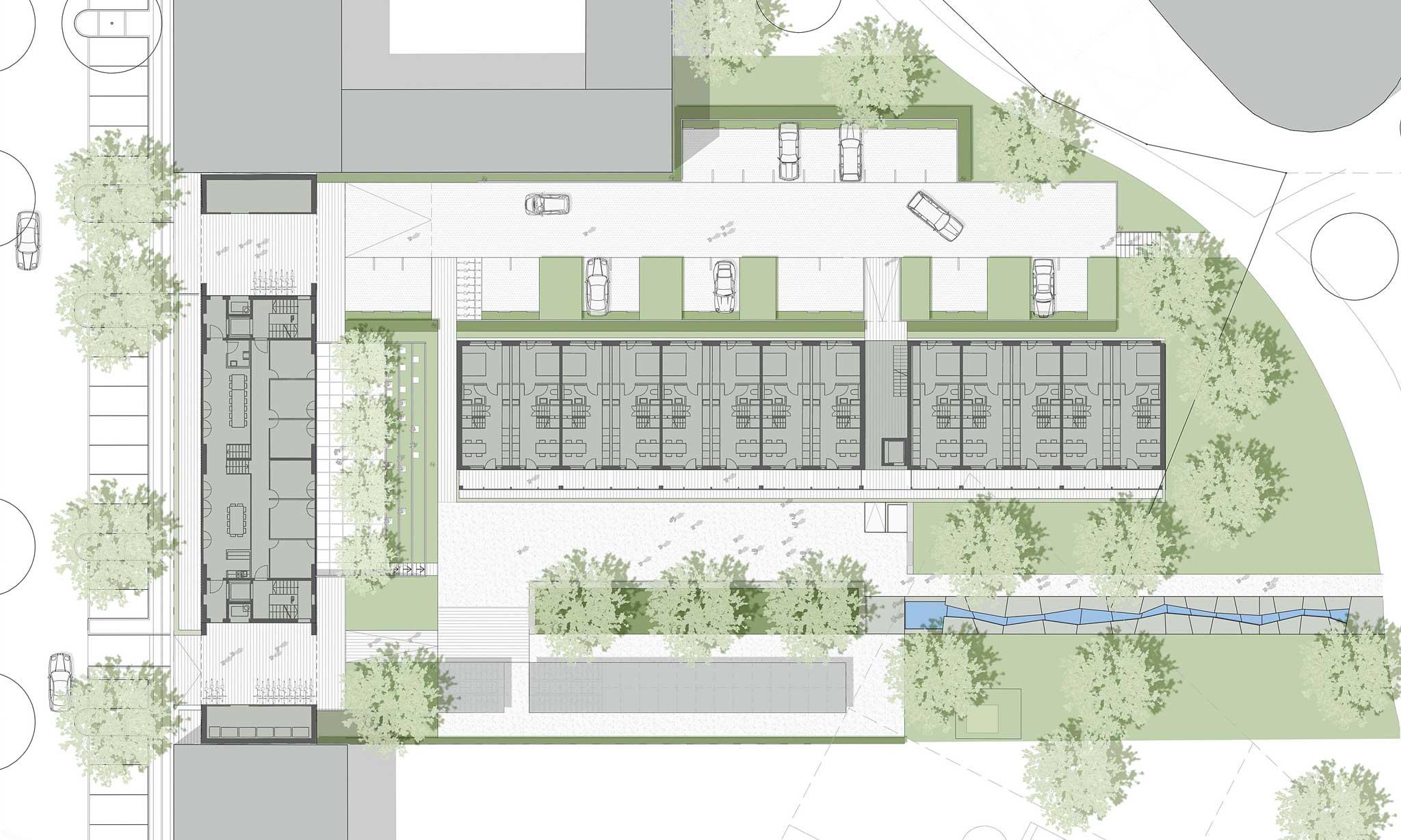 "Magnet Housing ""Flintholm""   Landschaftsarchitektur Kopenhagen - Grundriss"