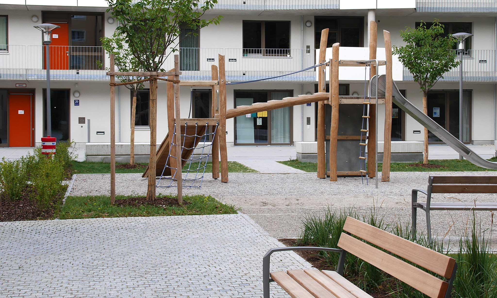 Wilhelmine-Lübke-Haus Landschaftsarchitektur Spielplatz