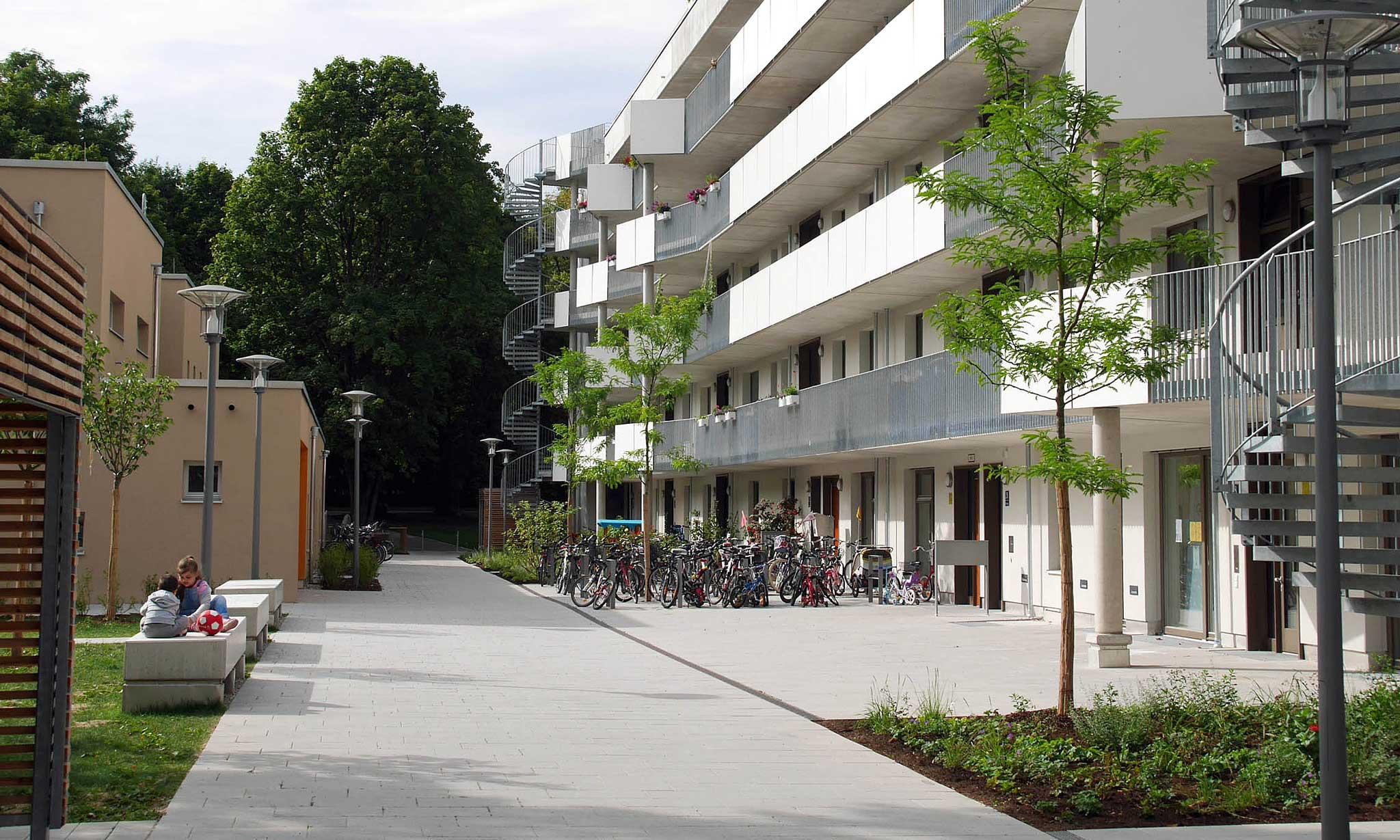 Wilhelmine-Lübke-Haus Landschaftsarchitektur Erschließung