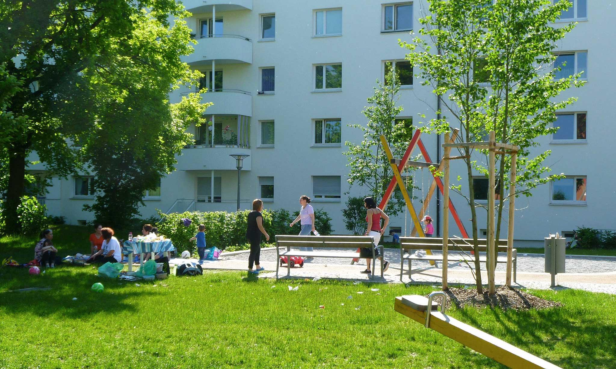 """Wohnanlage """"Berg am Laim"""" - Landschaftsarchitektur Spielplatz"""