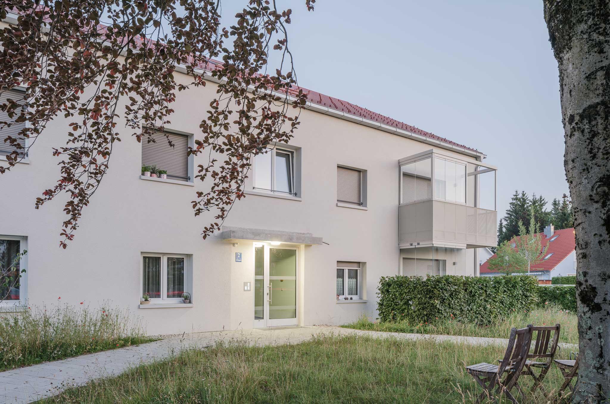 Landschaftsarchitektur Wohnanlage Grünwald - Situation Hauseingang