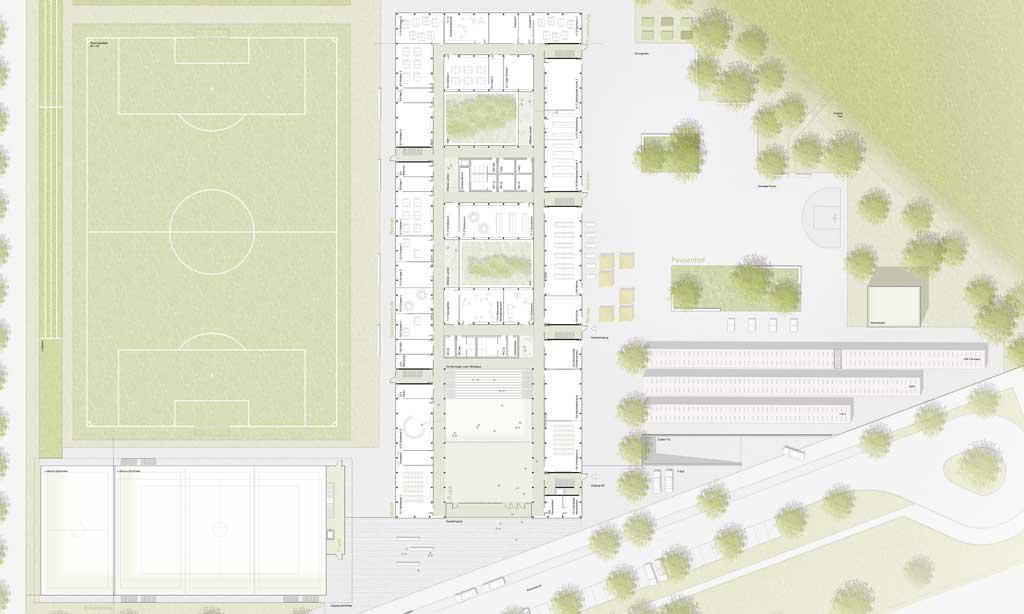 Wettbewerb Realschule Landshut - Grundriss