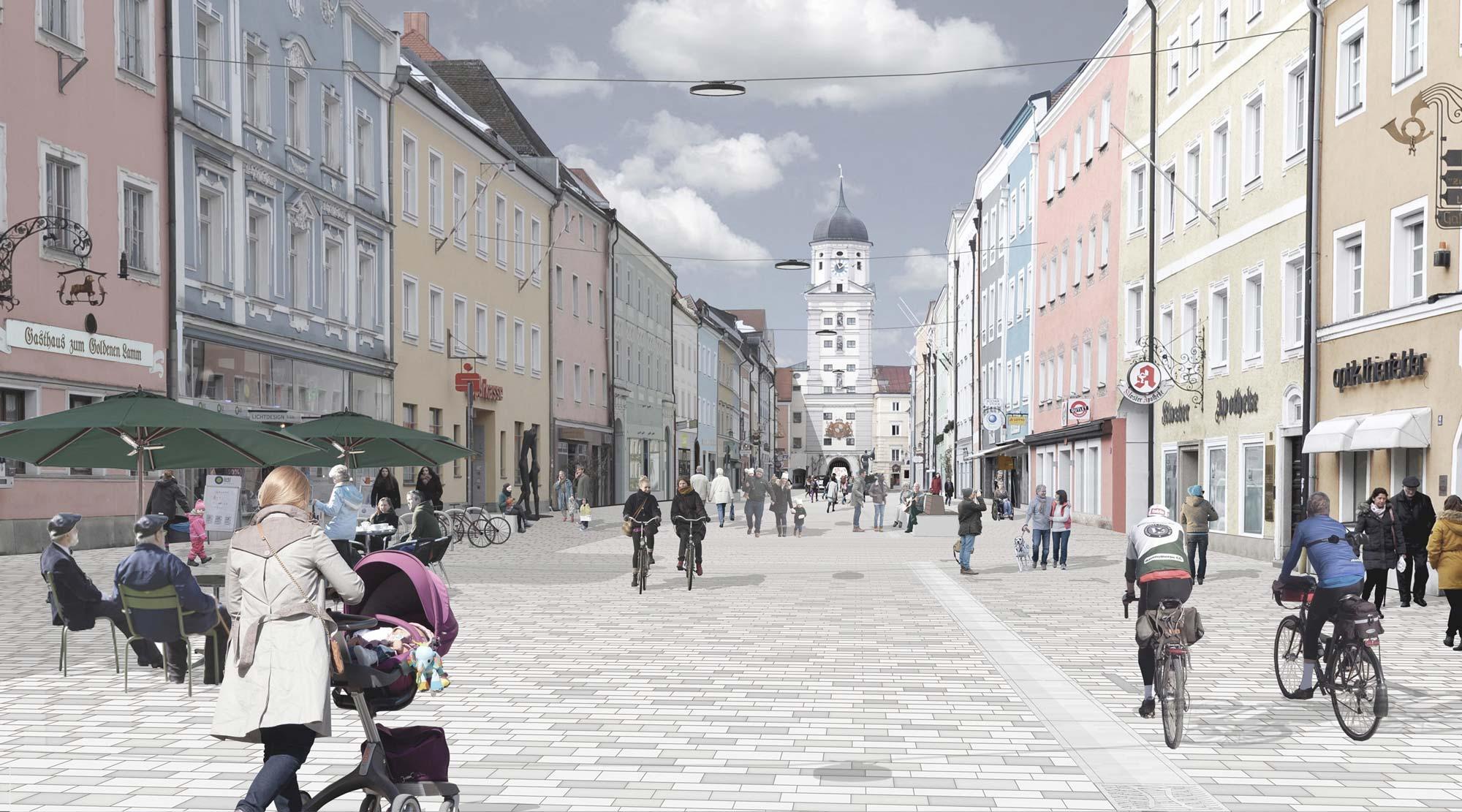 Wettbewerb Stadtplatz Vilshofen - Visualisierung