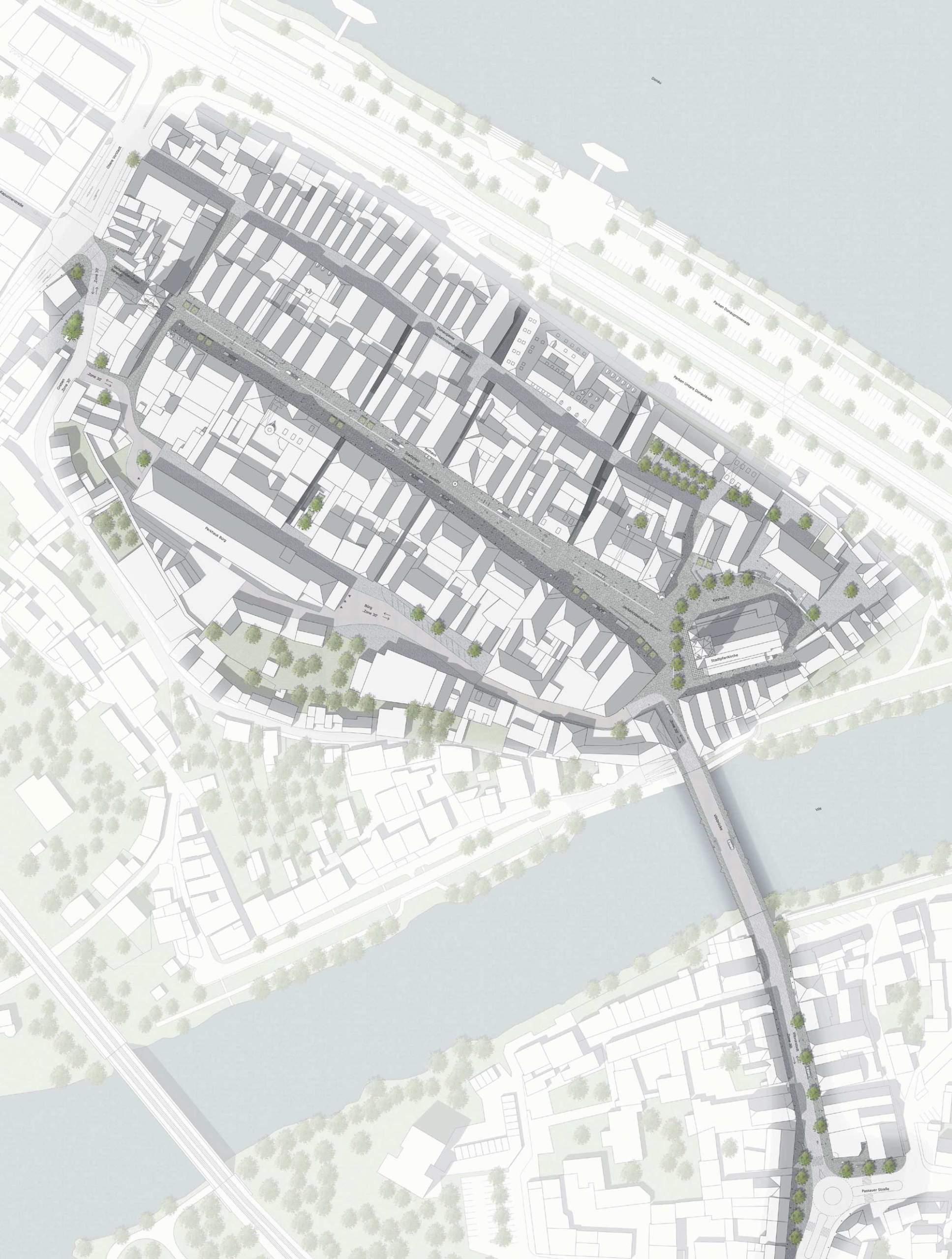 Wettbewerb Stadtplatz Vilshofen - Lageplan