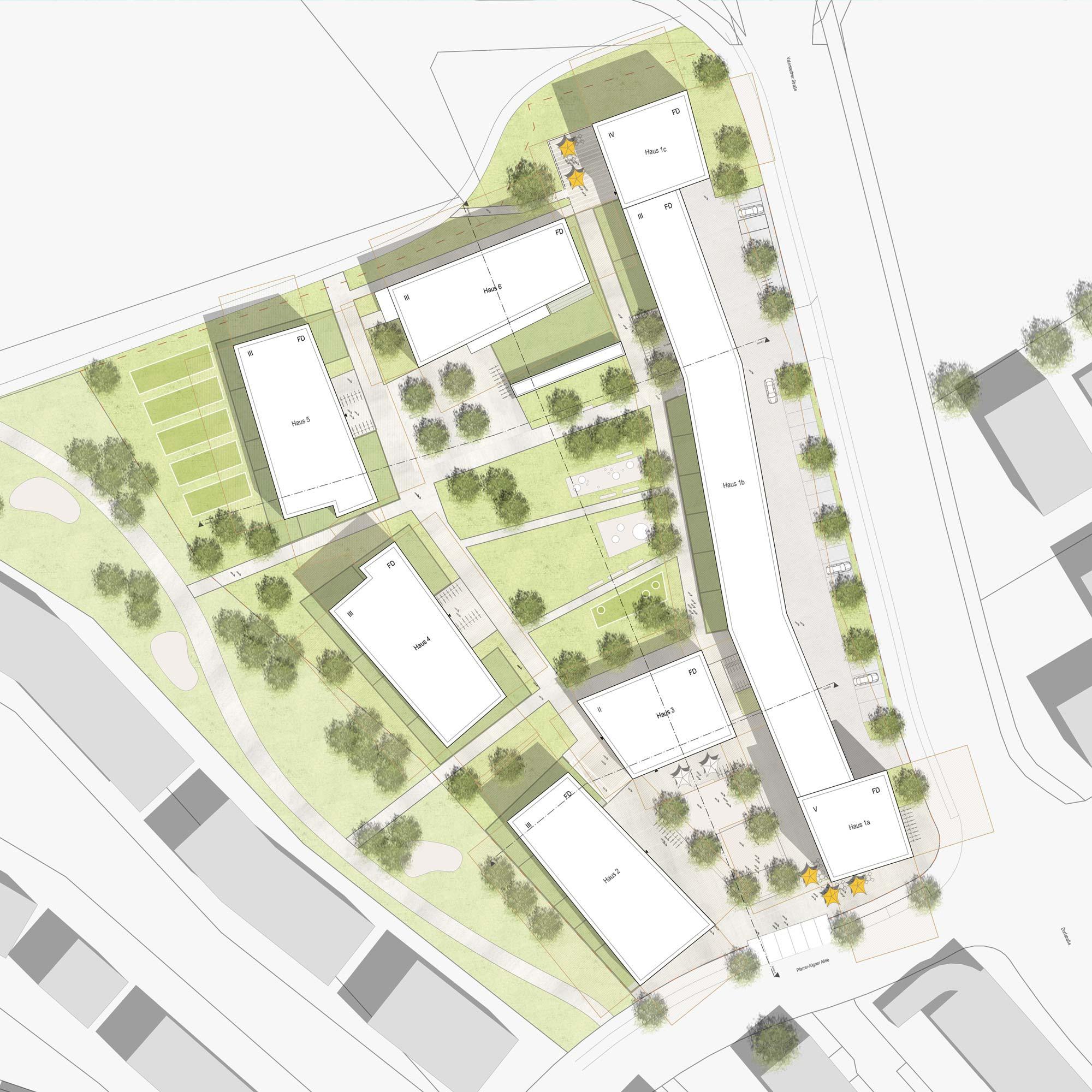 Wohnbebauung Nordwest Vaterstetten - Städtebau - Lageplan