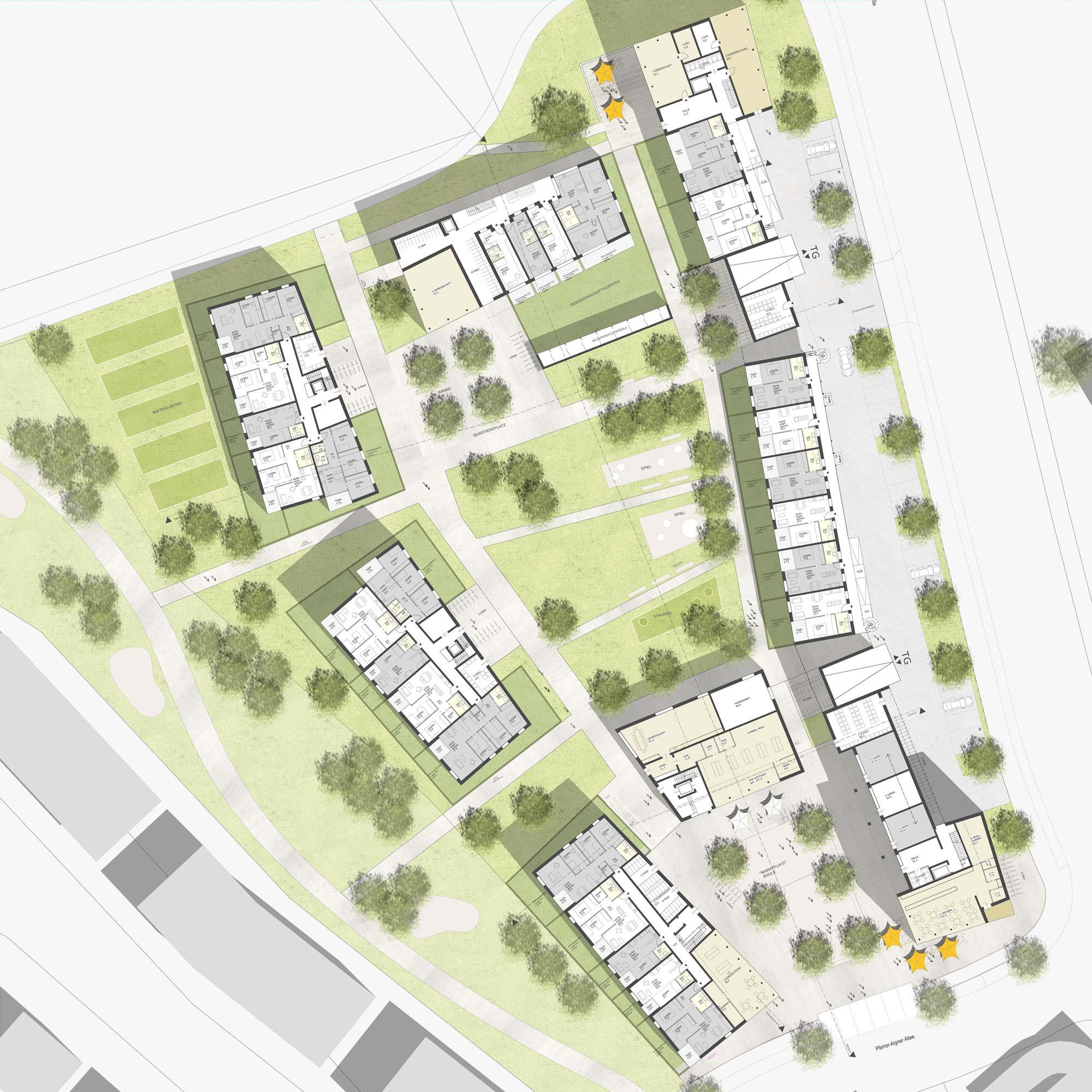 Wohnbebauung Nordwest Vaterstetten - Städtebau - Grundriss