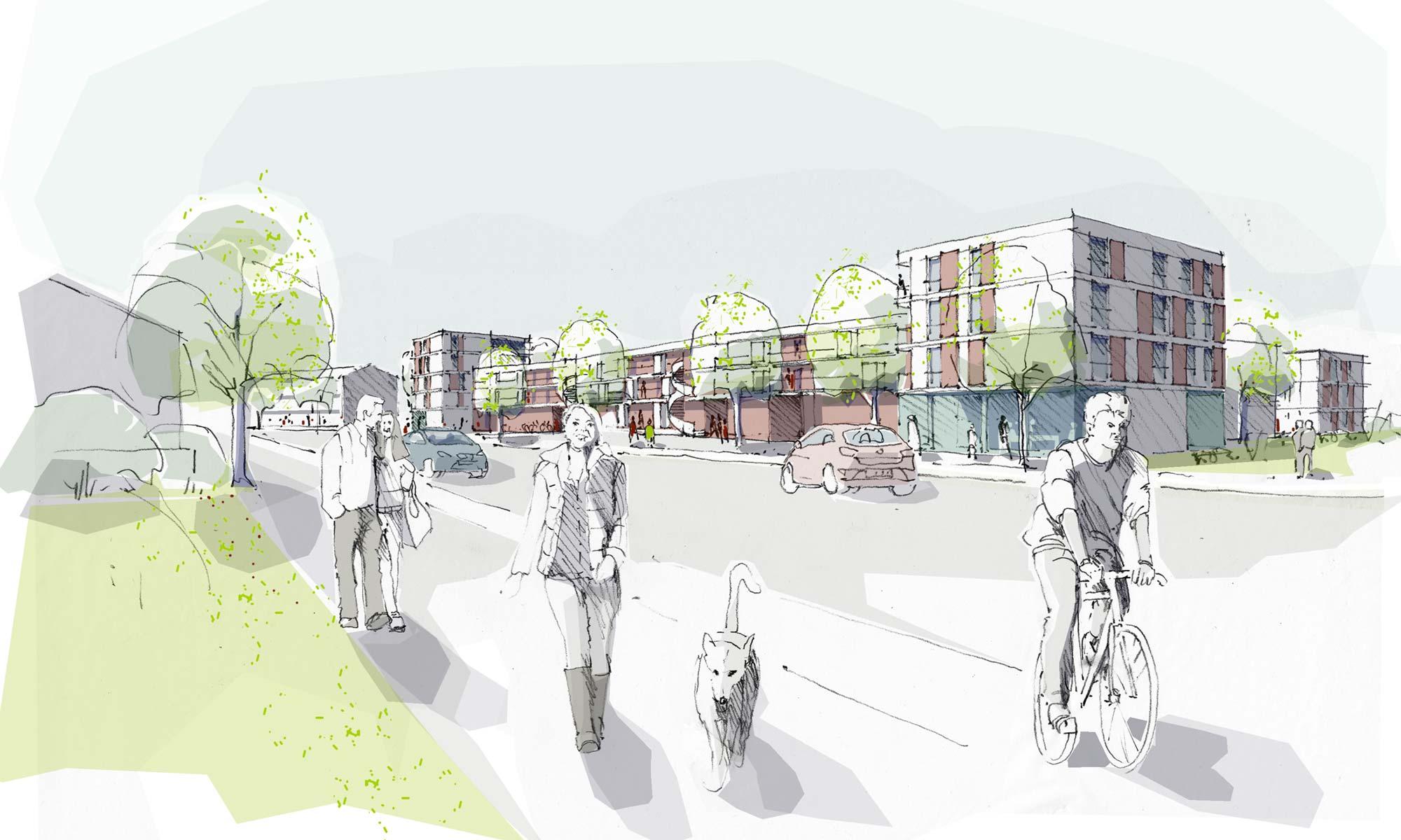 Wohnbebauung Nordwest Vaterstetten - Städtebau