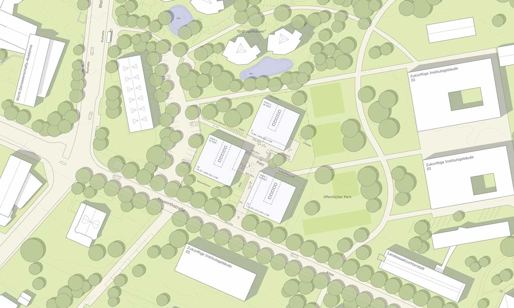 Wohnen für Studierende Stuttgart - Landschaftsarchitektur - Vorschau